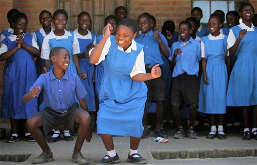 blå glade barn!