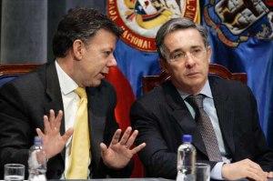 Juan Manuel Santos, Alvaro Uribe