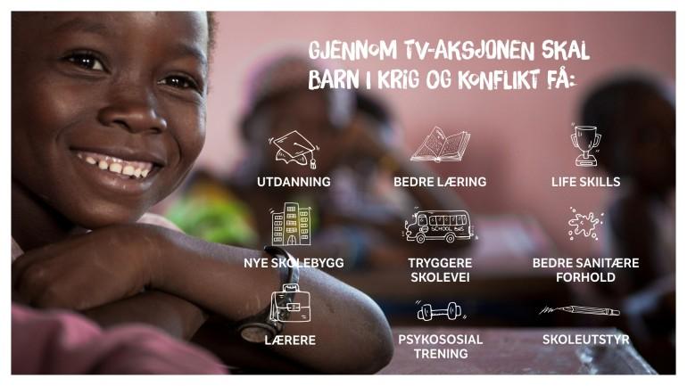 Gjennom TV-aksjonen skal barn i krig og konflikt få utdanning.jpg