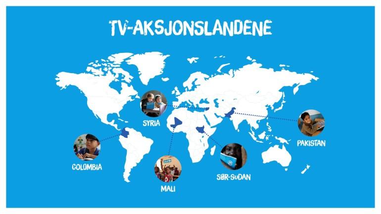 TV-aksjonslandene 2017