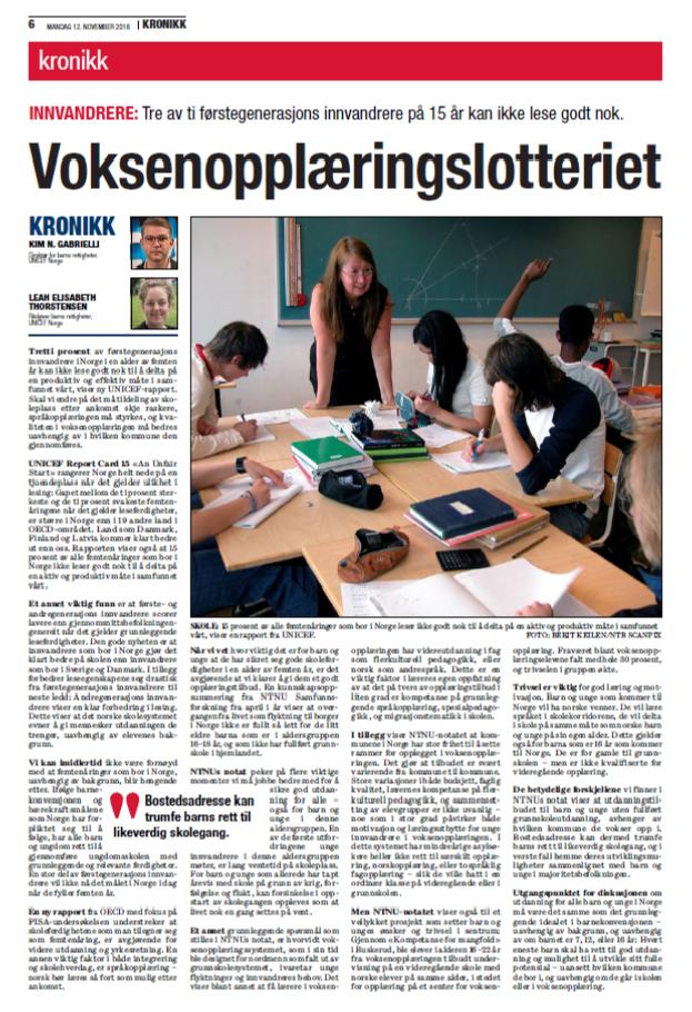 Voksenopplæringslotteriet innvandrer utdanning skole.png
